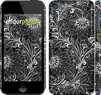 """Чехол на iPod Touch 5 Чёрно-белая хохлома """"1092c-35"""""""