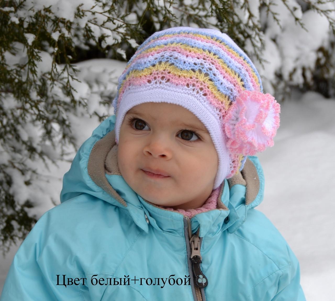Шапочка детская Одуванчик маленький размер (ажурная)