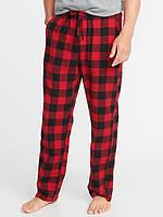 Мужские фланелевые штаны Old Navy красные М пижама домашние США