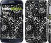 "Чехол на Samsung Galaxy S4 i9500 Чёрно-белая хохлома ""1092c-13"""