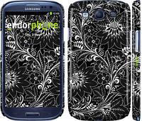 "Чехол на Samsung Galaxy S3 i9300 Чёрно-белая хохлома ""1092c-11"""