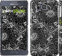 "Чехол на Samsung Galaxy Alpha G850F Чёрно-белая хохлома ""1092c-65"""
