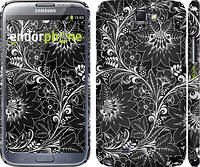 "Чехол на Samsung Galaxy Note 2 N7100 Чёрно-белая хохлома ""1092c-17"""