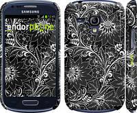 """Чехол на Samsung Galaxy S3 mini Чёрно-белая хохлома """"1092c-31"""""""
