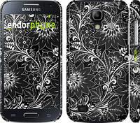 """Чехол на Samsung Galaxy S4 mini Чёрно-белая хохлома """"1092c-32"""""""