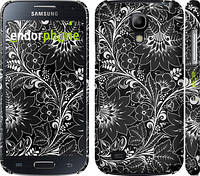 "Чехол на Samsung Galaxy S4 mini Duos GT i9192 Чёрно-белая хохлома ""1092c-63"""