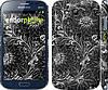 "Чехол на Samsung Galaxy Grand Duos I9082 Чёрно-белая хохлома ""1092c-66"""