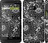 """Чехол на HTC One M7 Чёрно-белая хохлома """"1092c-36"""""""