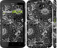 """Чехол на HTC One X+ Чёрно-белая хохлома """"1092c-69"""""""