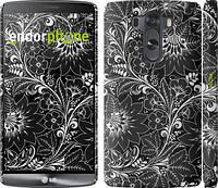 """Чехол на LG G3 dual D856 Чёрно-белая хохлома """"1092c-56"""""""