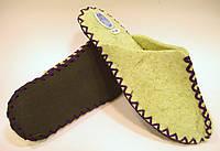 Комнатные войлочные тапочки из натуральной шерсти женские с фиолетовым шнурком, фото 1