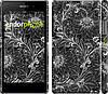 """Чехол на Sony Xperia Z1 C6902 Чёрно-белая хохлома """"1092c-38"""""""