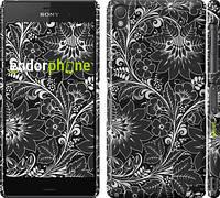 """Чехол на Sony Xperia Z3 dual D6633 Чёрно-белая хохлома """"1092c-59"""""""