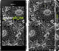 """Чехол на Sony Xperia M2 D2305 Чёрно-белая хохлома """"1092c-60"""""""