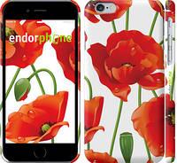 "Чехол на iPhone 6 красные маки 2 ""2389c-45"""