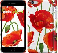 "Чехол на iPhone 6 Plus красные маки 2 ""2389c-48"""