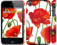 "Чехол на iPhone 3Gs красные маки 2 ""2389c-34"""