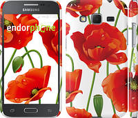 "Чехол на Samsung Galaxy Core Prime G360H красные маки 2 ""2389c-76"""