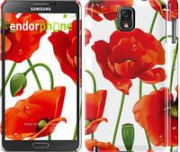 "Чехол на Samsung Galaxy Note 3 N9000 красные маки 2 ""2389c-29"""