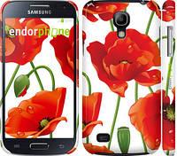 "Чехол на Samsung Galaxy S4 mini Duos GT i9192 красные маки 2 ""2389c-63"""