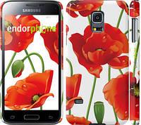 "Чехол на Samsung Galaxy S5 mini G800H красные маки 2 ""2389c-44"""
