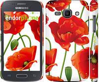 """Чехол на Samsung Galaxy Ace 3 Duos s7272 красные маки 2 """"2389c-33"""""""