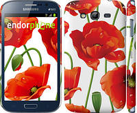 "Чехол на Samsung Galaxy Grand Duos I9082 красные маки 2 ""2389c-66"""
