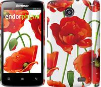"""Чехол на Lenovo A820 красные маки 2 """"2389c-68"""""""