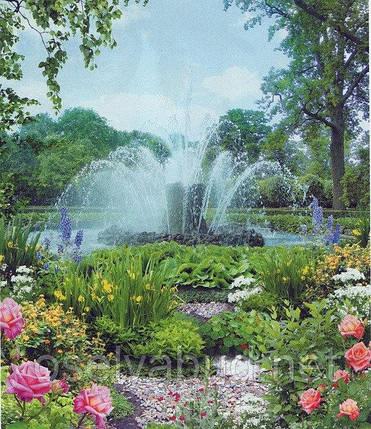Фотообои, фонтан, цветы,  Диамантовые брызги, 15 листов, размер 242х201 см, фото 2