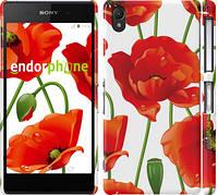 """Чехол на Sony Xperia Z2 D6502/D6503 красные маки 2 """"2389c-43"""""""