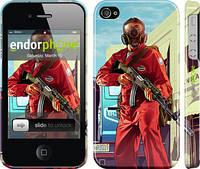 "Чехол на iPhone 4s GTA 5. Heroes 4 ""956c-12"""