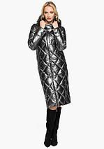 Воздуховик Braggart Angel's Fluff 31031 | Зимняя женская куртка темное серебро, фото 2