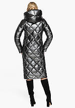Воздуховик Braggart Angel's Fluff 31031 | Зимняя женская куртка темное серебро, фото 3