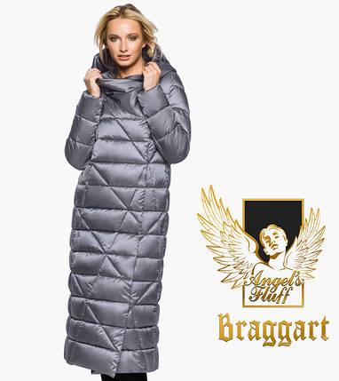 Воздуховик Braggart Angel's Fluff 31058 | Зимняя женская куртка жемчужно-серая, фото 2