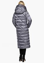 Воздуховик Braggart Angel's Fluff 31058 | Зимняя женская куртка жемчужно-серая, фото 3