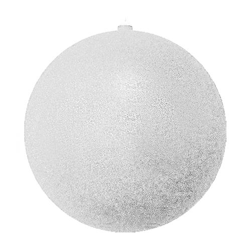 Елочный шар с блестками HLV 8585 25 см Silver