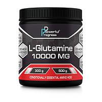 Л-глютамин Powerful Progress L-Glutamine 10000 mg 300 g глютамин для восстановления