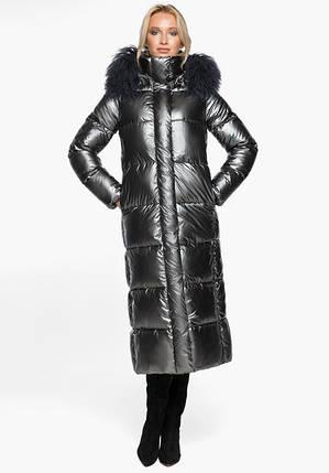 Воздуховик Braggart Angel's Fluff 31072 | Теплая женская куртка темное серебро, фото 2