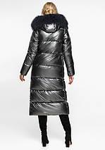 Воздуховик Braggart Angel's Fluff 31072 | Теплая женская куртка темное серебро, фото 3