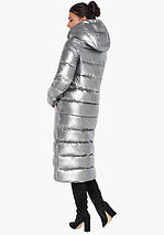 Воздуховик Braggart Angel's Fluff 31007 | Женская зимняя куртка серебро, фото 3