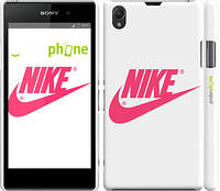 """Чехол на Sony Xperia Z1 C6902 Nike с розовым логотипом """"2736c-38"""""""