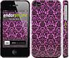"""Чехол на iPhone 4 Розовый узор барокко """"2095c-15"""""""