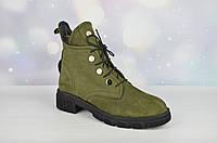 Модные женские зимние ботинки Evromoda ХАКИ