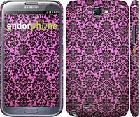 "Чехол на Samsung Galaxy Note 2 N7100 Розовый узор барокко ""2095c-17"""