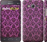 "Чехол на Samsung Galaxy Grand Prime G530H Розовый узор барокко ""2095c-74"""