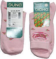 Носки для девочки, светло-розовые в розочки, размер 22-24, Дюна