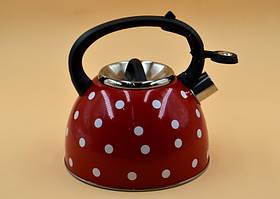 Чайник со свистком Unique UN-5301 2,5 л горошек