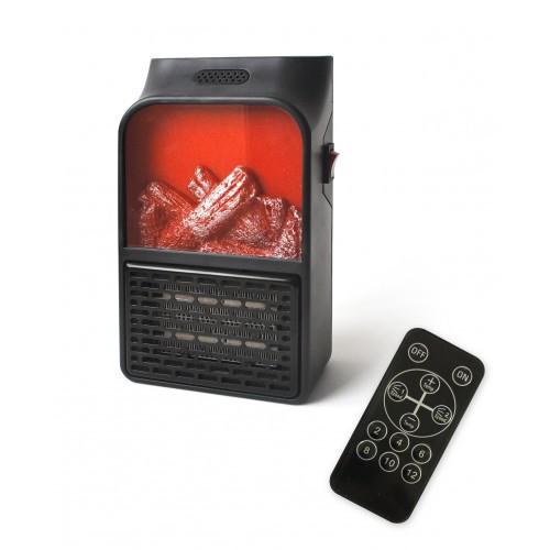 Портативный обогреватель мини камин дуйка Flame Heater 900W с пультом