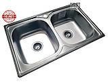 Кухонная мойка (врезная) GALATI FIFIKA 2C SATIN, фото 3