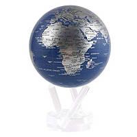 """Глобус самовращающийся Solar Globe Mova """"Политическая карта"""" 11,4 см серебристый (MG-45-BSE)"""